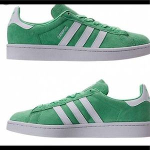 "Adidas Originals:'Campus, ""Green Glo"", 8-10, NWB⚡️"